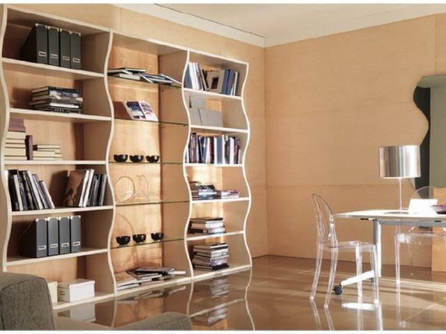 Красивые стеллажи для дома - деревянные варианты.